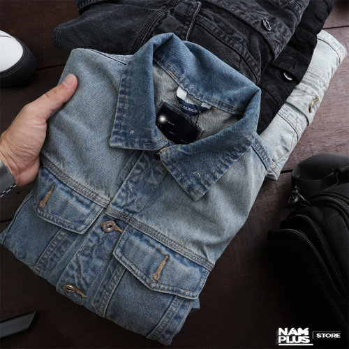 DENIM JACKET ZR 4 MÀU KO TAG